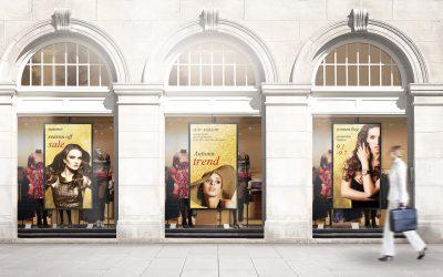 Trek klanten naar binnen met semi-outdoor displays